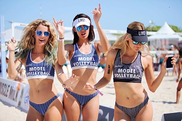Model Volleyball Miami 2017 e LIVE! juntos